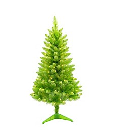 International 4 ft. Pre-Lit Fashion Green Pine Artificial Christmas Tree with 150 UL-Listed Clear Lights