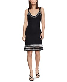 BCBGMAXAZRIA Multi-Stitch Sweater Dress