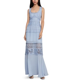 BCBGMAXAZRIA Mixed-Media Maxi Dress