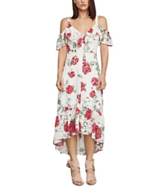 BCBGMAXAZRIA Floral-Lace High-Low Dress