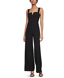 Notched Wide-Leg Jumpsuit