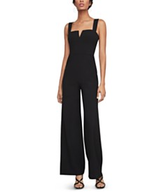 BCBGMAXAZRIA Notched Wide-Leg Jumpsuit
