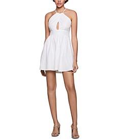 Crisscross Cutout Fit & Flare Dress