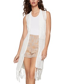 BCBGeneration Fringe-Trim Knit Vest