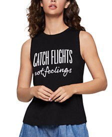 BCBGeneration Catch Flights Not Feelings Tank Top