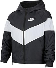 Big Girls Hooded Windrunner Jacket