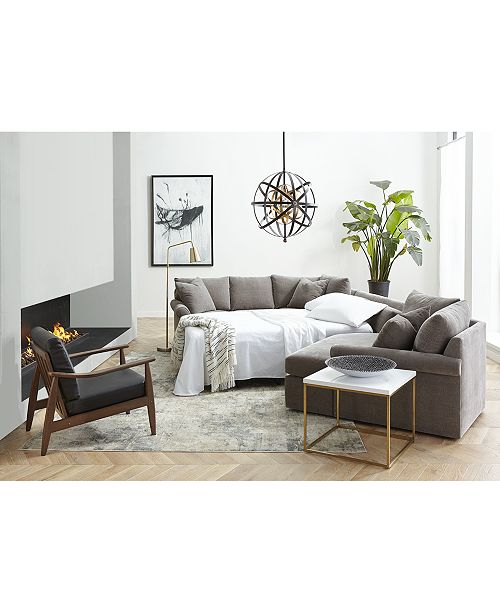 Furniture Wedport 3 Pc Fabric Sectional Sofa With Armless