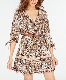 Juniors' Animal-Print Dress, Created for Macy's