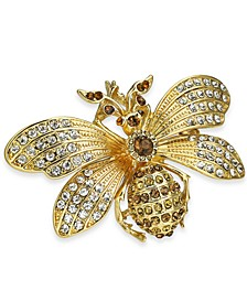 Gold-Tone Crystal Bee Pin, Created for Macy's