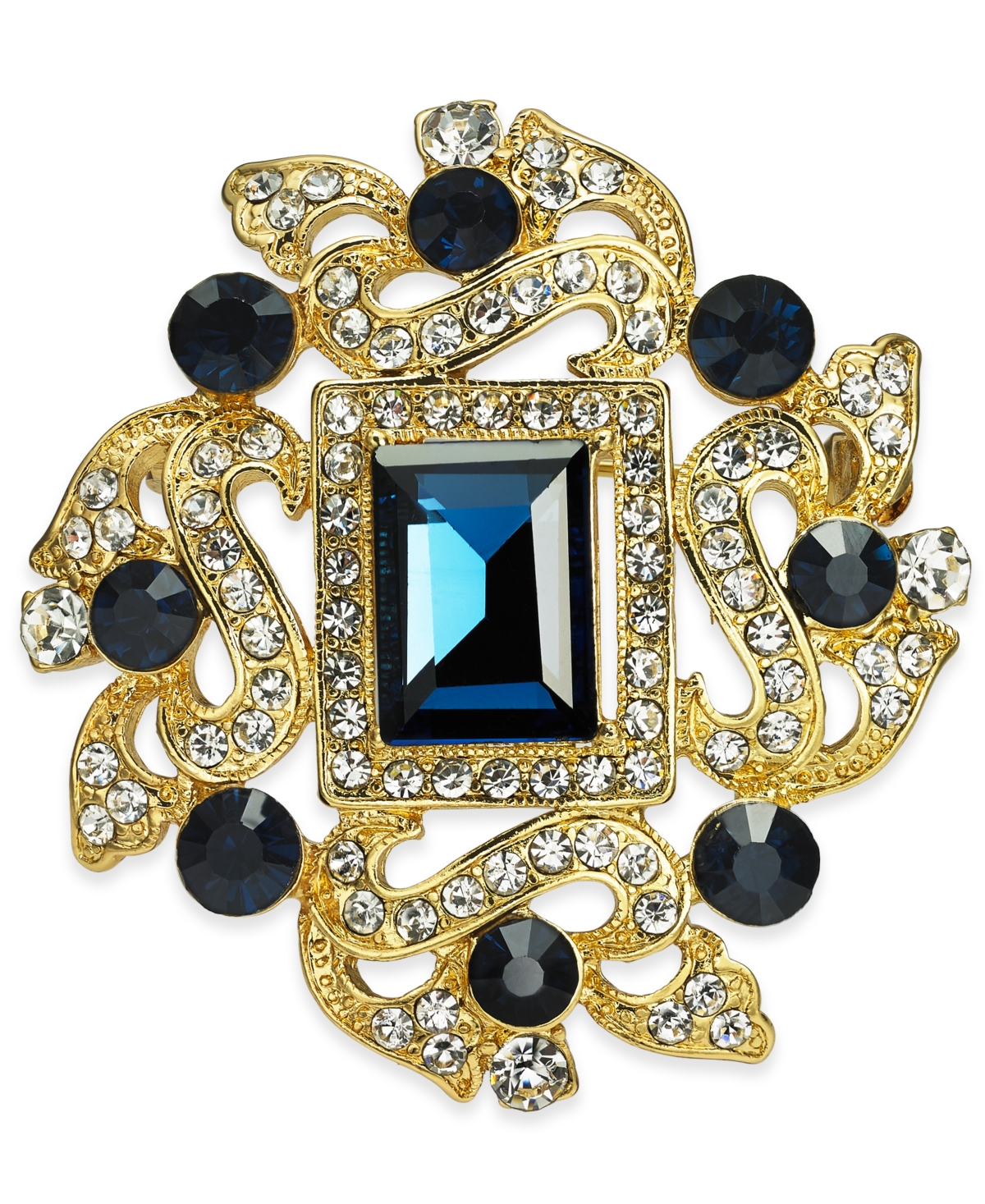 Charter Club Gold-Tone Crystal Pin, Created for Macy's