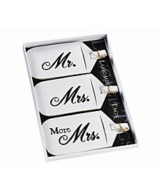 Set of 3 Mr., Mrs. and More Mrs. Luggage Tags