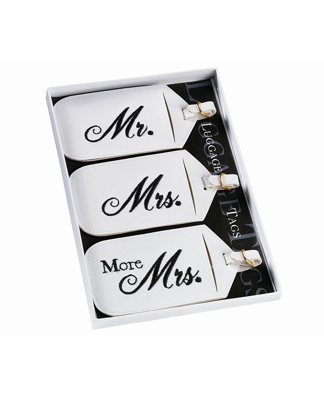Lillian Rose Set of 3 Mr., Mrs. and More Mrs. Luggage Tags