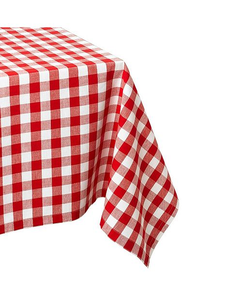 "Design Import Checkers Tablecloth 60"" x 120"""