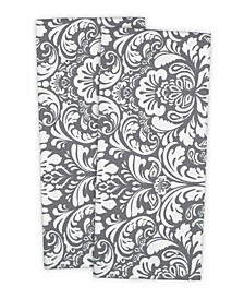 Damask Dishtowel, Set of 2
