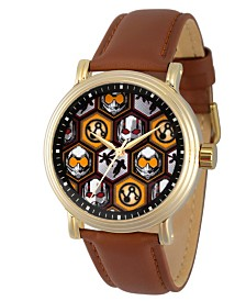 EwatchFactory Men's Marvel's Ant-Man And The Wasp Brown Strap Watch 44mm
