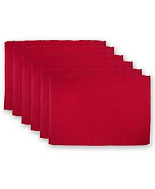 Cardinal Ribbed Placemat, Set of 6