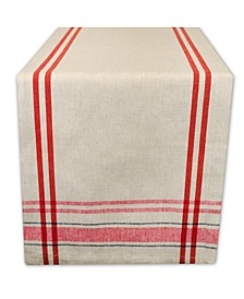 "Chambray French Stripe Table Runner 14"" x 108"""