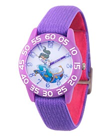 EwatchFactory Girl's Disney Purple Plastic Time Teacher Strap Watch 32mm