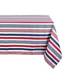 """Patriotic Stripe Outdoor Tablecloth 60"""" x 84"""""""