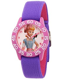 EwatchFactory Girl's Disney Toy Story 4 Bo Peep Purple Plastic Time Teacher Strap Watch 32mm
