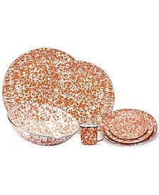 Orange Swirl Enamelware Collection