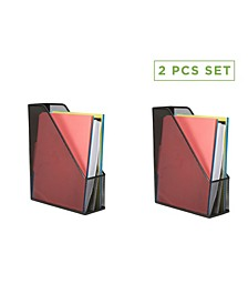 2 Piece Mesh Magazine File Holder, File Box