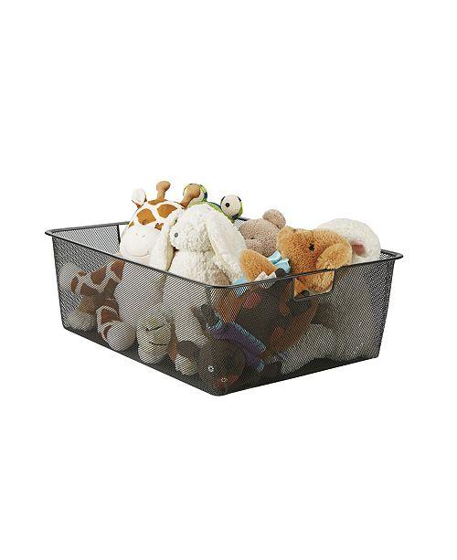 Mind Reader Wide Storage Basket With Handles