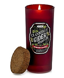 DecoFlair Holiday Cocktail Highball Glass - Cranberry Cider Sparkler Candle