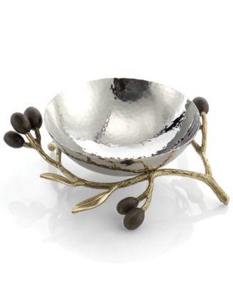 Olive Branch Gold Nut Bowl