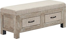 Cottage Upholstered Storage Bench