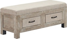 Cottage Upholstered Storage Bench, Quick Ship