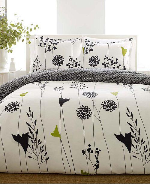 Perry Ellis Asian Lily Full/Queen Comforter Set