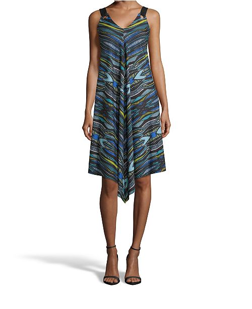 John Paul Richard Printed Point Hem Dress