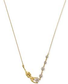 "Kate Spade New York Gold-Tone Pavé Ball & Leopard 17"" Collar Necklace"
