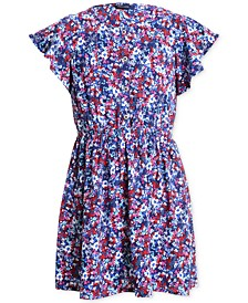 Toddler Girls Floral-Print Flutter-Sleeve Dress