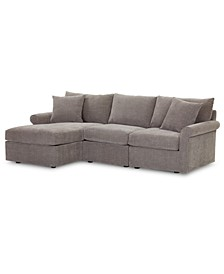 Wedport 3-Pc. Fabric Modular Sectional Sofa with Chaise, Created for Macy's