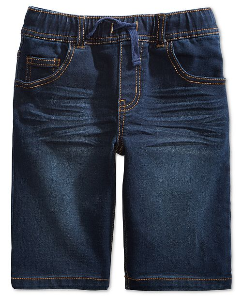 Epic Threads Little Boys Keith Stretch Denim Shorts, Created for Macy's