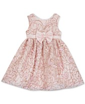 9fdefe58f1c7 Rare Editions Baby Girls Glitter Fit & Flare Dress