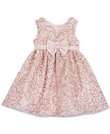 Rare Editions Baby Girls Glitter Fit & Flare Dress