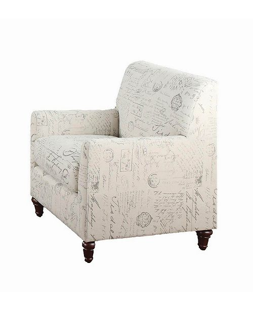 Coaster Home Furnishings Norah Arm Chair with French Script Pattern
