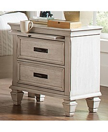Franco 2-Drawer Nightstand with Pull Out Tray