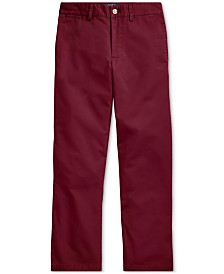 Polo Ralph Lauren Big Boys Flat-Front Chino Pants