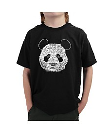 LA Pop Art Big Boy's Word Art T-Shirt - Panda