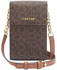 Calvin Klein Signature North South Leather Crossbody