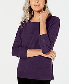 Textured-Stripe Sweater, Created for Macy's