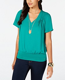 Pintuck-Pleated Top, Created for Macy's