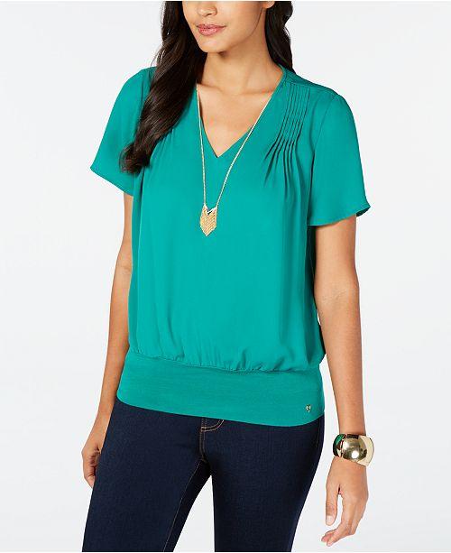 Thalia Sodi Pintuck-Pleated Top, Created for Macy's