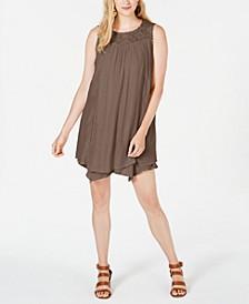 Lace-Yoke Handkerchief-Hem A-Line Dress, Created for Macy's