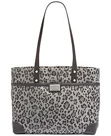 Calvin Klein Teodora Leopard Tote