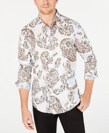 Men's Stretch Chinino Large Paisley Print Shirt